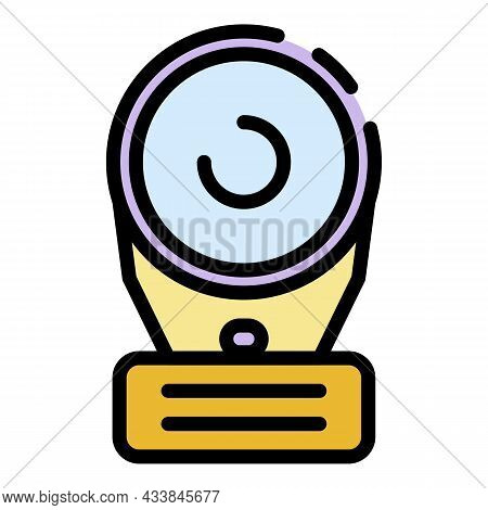 Webcam Icon. Outline Webcam Vector Icon Color Flat Isolated