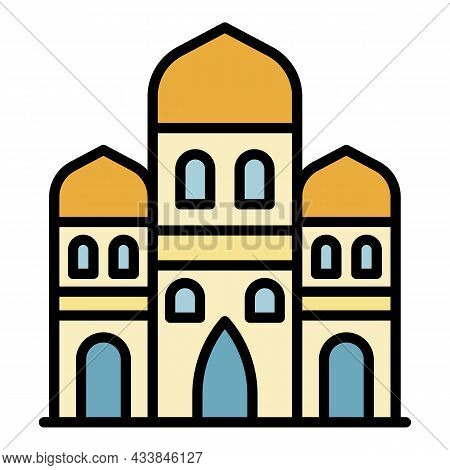 Three Arab Towers Icon. Outline Three Arab Towers Vector Icon Color Flat Isolated