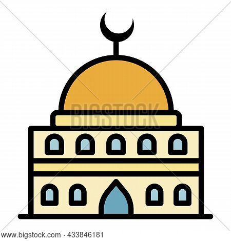 Traditional Mosque Icon. Outline Traditional Mosque Vector Icon Color Flat Isolated