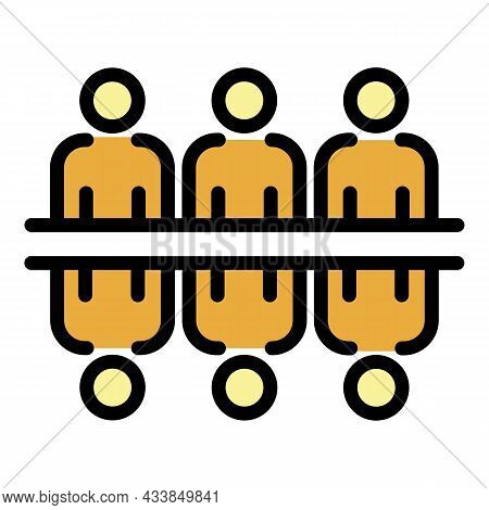 People Opposite Each Other Icon. Outline People Opposite Each Other Vector Icon Color Flat Isolated