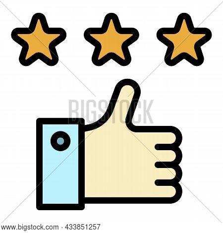 Customer Feedback Icon. Outline Customer Feedback Vector Icon Color Flat Isolated