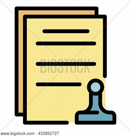 Leasing Final Documents Icon. Outline Leasing Final Documents Vector Icon Color Flat Isolated