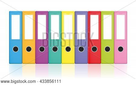 Colorful Ring Binders, Colored Blank Leaf Binder Collection For Happy Office Work And Tidy Filing. I