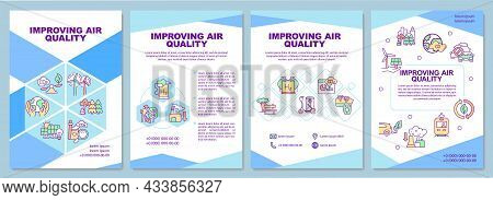 Improving Air Quality Brochure Template. Reduce Carbon Emissions. Flyer, Booklet, Leaflet Print, Cov