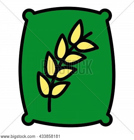 Wheat Sack Icon. Outline Wheat Sack Vector Icon Color Flat Isolated