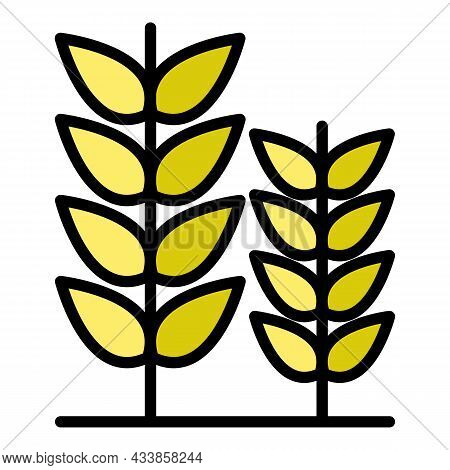 Farm Plant Field Icon. Outline Farm Plant Field Vector Icon Color Flat Isolated