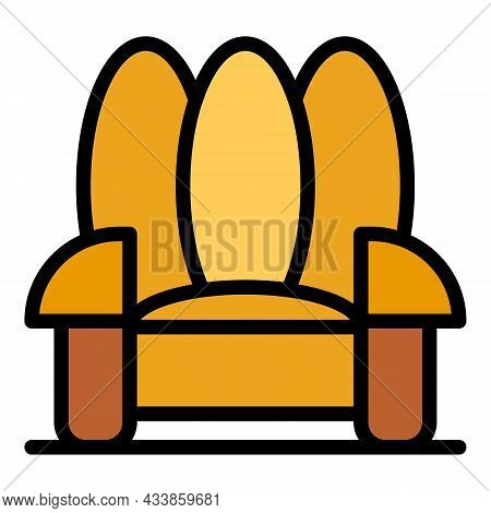 Luxury Armchair Icon. Outline Luxury Armchair Vector Icon Color Flat Isolated