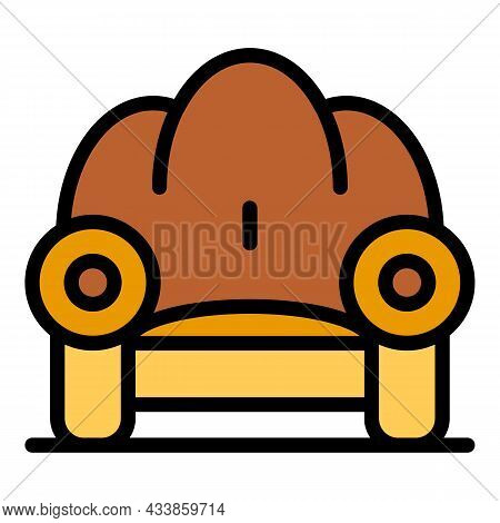 Classic Armchair Icon. Outline Classic Armchair Vector Icon Color Flat Isolated