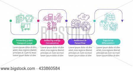 Environmental Initiatives Vector Infographic Template. Saving Energy Presentation Outline Design Ele