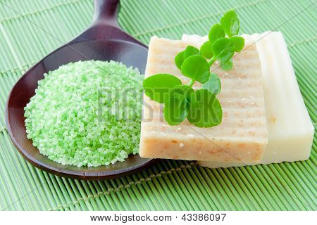 Natural Handmade Soap And Bath Salt For Spa
