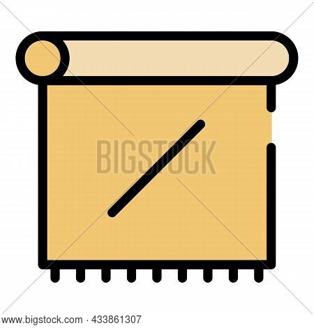 Paper Towel Icon. Outline Paper Towel Vector Icon Color Flat Isolated