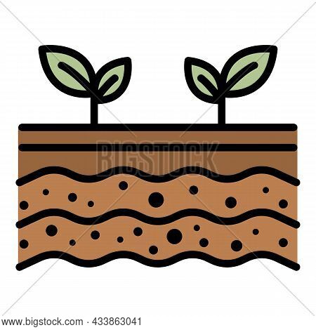 Plant Shoots Icon. Outline Plant Shoots Vector Icon Color Flat Isolated