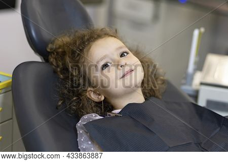 Dental Kid. Examination Treatment Teeth Children. Medical  Checkup Oral Cavity Instrument. Doctor Ha