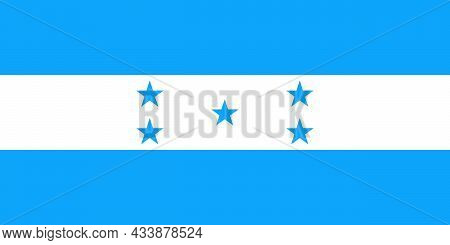 The National Flag Of Honduras Is A Central American Country With Caribbean Sea Coastlines To The Nor