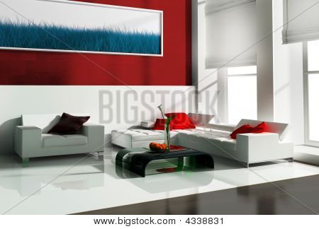 White Furniture In  Office