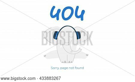 Internet Connection Problem Concept Illustration. 404 Not Found Error Page Isolated On White Backgro