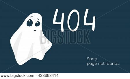Internet Connection Problem Concept Illustration. 404 Error Page Not Found, Isolated On Black Backgr