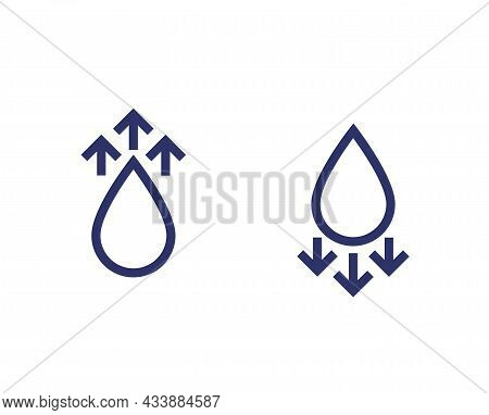 Humidity Level Up Or Down Vector Icons