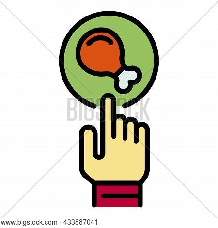 Food Selection Icon. Outline Food Selection Vector Icon Color Flat Isolated