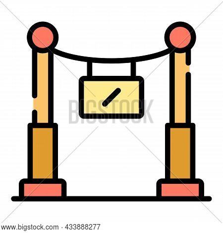 Vip Sector Icon. Outline Vip Sector Vector Icon Color Flat Isolated