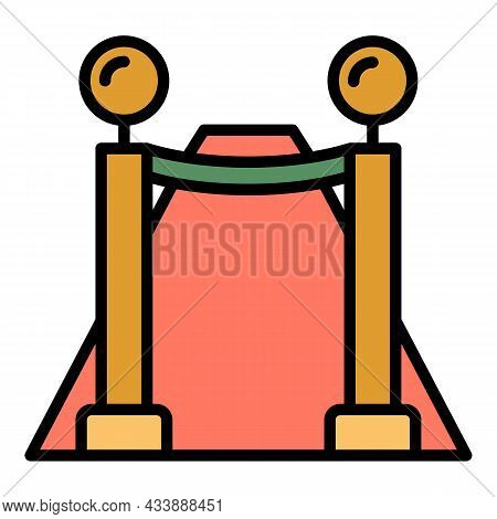 Vip Fence Icon. Outline Vip Fence Vector Icon Color Flat Isolated