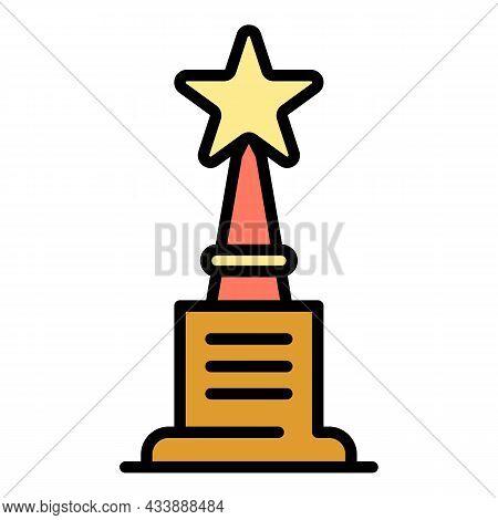 Vip Reward Icon. Outline Vip Reward Vector Icon Color Flat Isolated