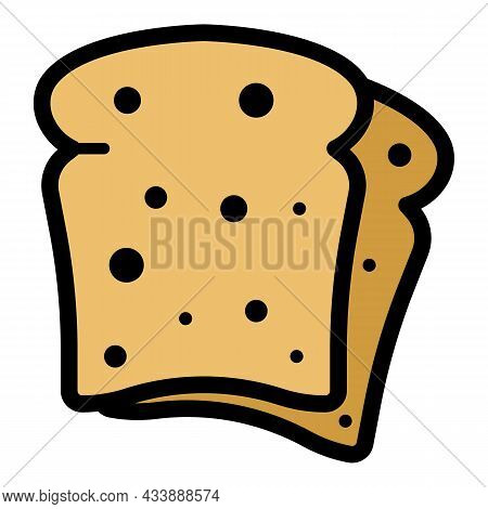 Rye Bread Icon. Outline Rye Bread Vector Icon Color Flat Isolated
