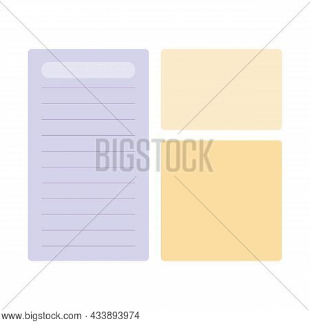 Set Of Notebook Memo Pad Deisgns For Planners And Bulette Journals.