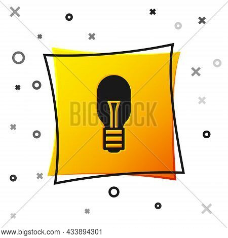 Black Light Bulb With Concept Of Idea Icon Isolated On White Background. Energy And Idea Symbol. Ins