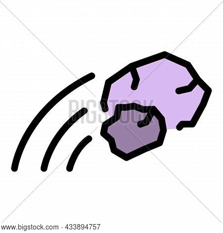 Stop Stone Violence Icon. Outline Stop Stone Violence Vector Icon Color Flat Isolated
