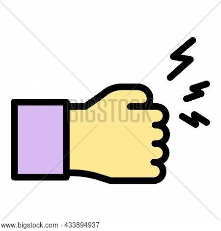 No Violence Icon. Outline No Violence Vector Icon Color Flat Isolated