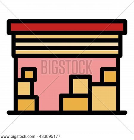 Deposit Garage Icon. Outline Deposit Garage Vector Icon Color Flat Isolated