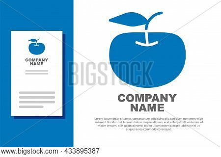 Blue Apple Icon Isolated On White Background. Excess Weight. Healthy Diet Menu. Fitness Diet Apple.