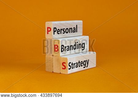 Pbs, Personal Branding Strategy Symbol. Concept Words Pbs, Personal Branding Strategy On Wooden Bloc