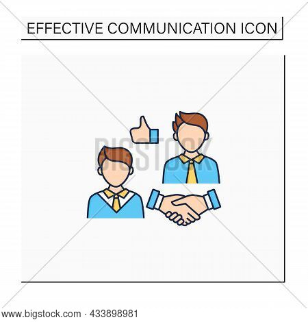 Respectfulness Color Icon. Respect Between Communicators.strong Personality.perfect Interlocutor. Ef