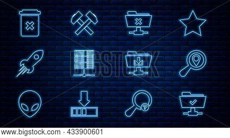 Set Line Ftp Operation Successful, Search Location, Cancel, Server, Data, Web Hosting, Rocket Ship W