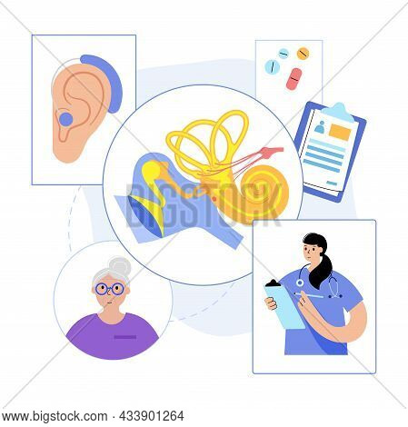 Inner And Middle Ear Diagram. Ent Medical Center. Hearing Aid Technology. Otolaryngologist In Otolar