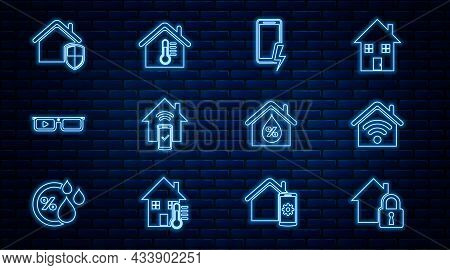 Set Line House Under Protection, Smart Home With Wi-fi, Mobile Charging Battery, Remote Control Syst
