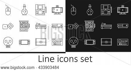 Set Line Create Account Screen, Video Game Console, Portable Video, Slot Machine, Game Dice, Compute