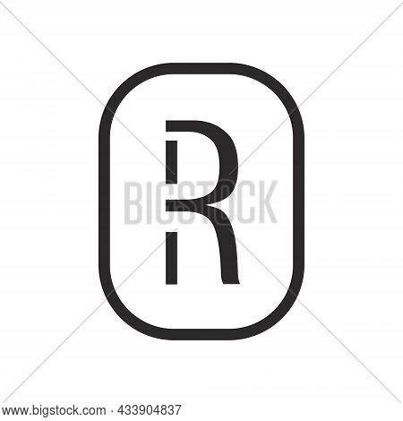 Letter R Monogram Logo. R Initial Logotype