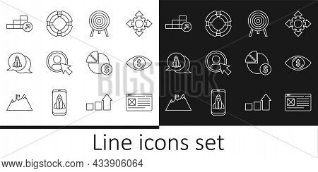 Set Line Browser Window, Eye With Dollar, Target, Create Account Screen, Startup Project Concept, Fi