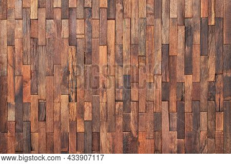Vintage Wood Texture As Background. Wood Wall Panel For Design. Wood Interior Wall