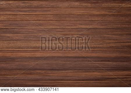 Wooden Table Texture. Dark Wooden Planks Background For Design. Brown Wooden Wall