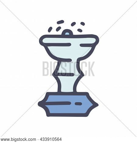 Miniature Fountain Color Vector Doodle Simple Icon