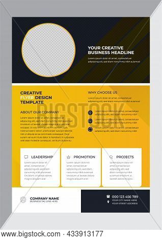 Concise Yellow Company Business Introduction Flyer Design Template