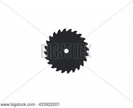 Saw Blade, Circular Blade Icon. Vector Illustration. Flat Design.