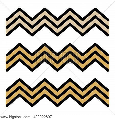 Egyptian Fresco Wave Icon. Outline Egyptian Fresco Wave Vector Icon Color Flat Isolated