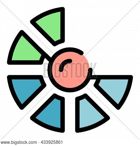 Advertising Chart Icon. Outline Advertising Chart Vector Icon Color Flat Isolated