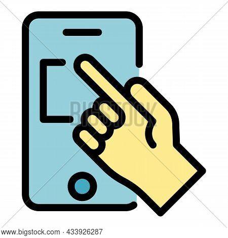 Order Advertising Online Icon. Outline Order Advertising Online Vector Icon Color Flat Isolated