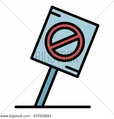 Protest Placard Icon. Outline Protest Placard Vector Icon Color Flat Isolated